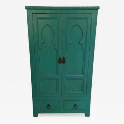 Atlas Showroom Emerald Green Chest Drawer or Cabinet Moroccan Taj Mahal Inspired Design