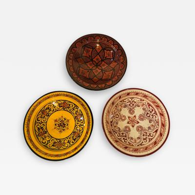 Atlas Showroom Handmade Large Colorful Ceramic Serving Decorative Center Table Plates