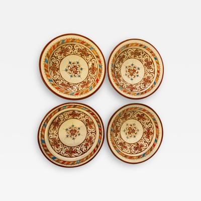 Atlas Showroom Handmade Light Brown White Ceramic Serving Decorative Center Table Plates