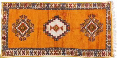 Atlas Showroom Handwoven Tribal 100 sheep organic Wool and Natural Dye Mustard Yellow Rug