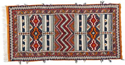 Atlas Showroom Large Handwoven Moroccan Berber Rug 100 Wool Organic Dye