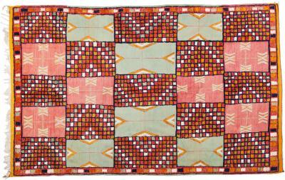 Atlas Showroom Large Handwoven Wool Moroccan Berber Tribal Rug 100 Wool Organic Dye