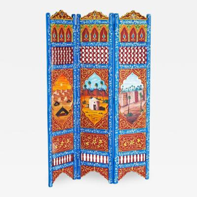 Atlas Showroom Moorish Hand Painted Oasis Room Divider