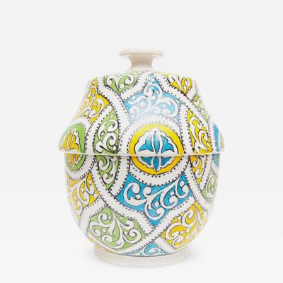 Atlas Showroom Moroccan Arabesque Design Ceramic Jar or Urn