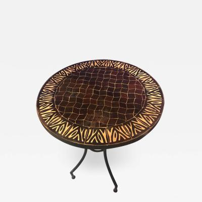 Atlas Showroom Moroccan Mosaic Brown Tile Bistro Table