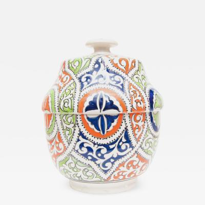 Atlas Showroom Moroccan Multicolor Ceramic Jar or Urn