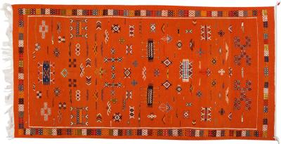 Atlas Showroom Moroccan Tribal Handwoven Multi Color Wool Rug