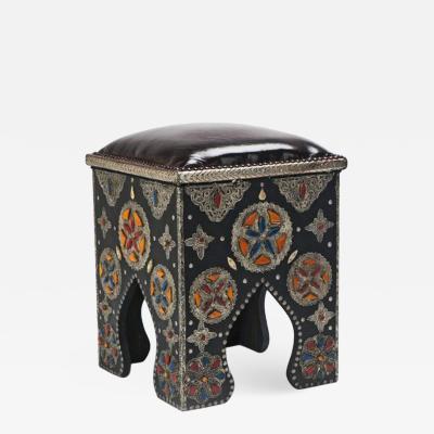 Atlas Showroom Pair of Handmade Moroccan Ottomans or stools