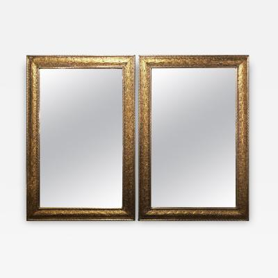 Atlas Showroom Pair of MoorishFiligree Style Silver and Gold Wall or Console Mirrors