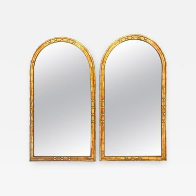 Atlas Showroom Palatial Moroccan Hollywood Regency Fashioned Wall Console or Pier Mirrors Pair