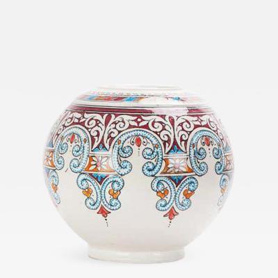 Atlas Showroom Vintage Hand painted Ceramic Moroccan Vase or Urn