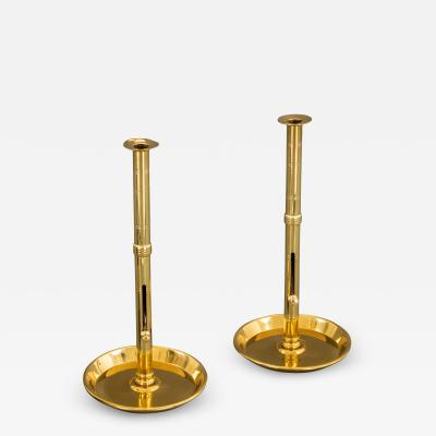 Attractive Pair of Tall Ejector Candlesticks