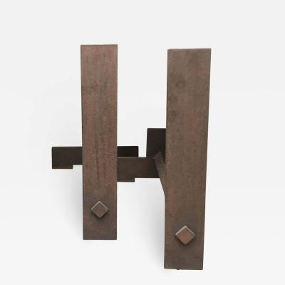 Attributed To Etienne Hadju 1907 1996 Pair Of Chenets Circa 1960
