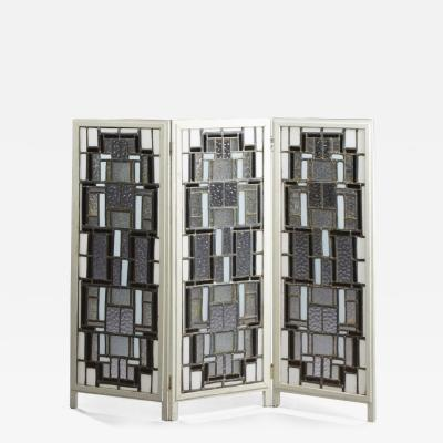 Attributed To Louis Barillet Modernist Screen Circa 1930