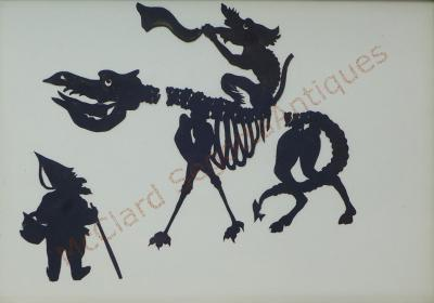 Auguste Edouart Rare Edouart Silhouette of Mythical Creatures