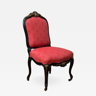 Auguste Emile Ringuet Leprince Napoleon III Style Gilt Bronze Mounted Side Chair