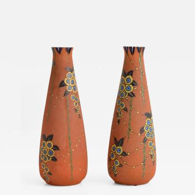 Auguste Heiligeinsten Pair of Large Auguste Heiligeinsten for Leune Vases