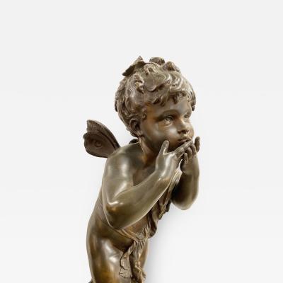 Auguste Moreau American Sifflant Cherub by Auguste Moreau 1834 1917 bronze