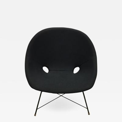 Augusto Bozzi Black Italian Cosmos Lounge Chair by Augusto Bozzi for Saporiti