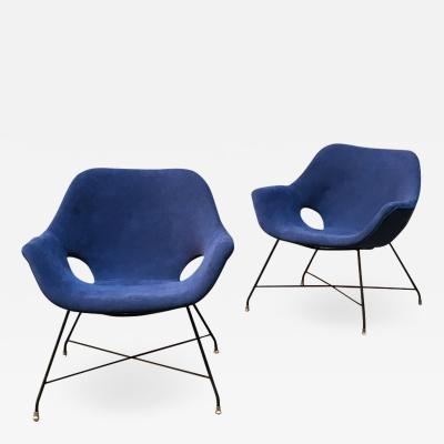 Augusto Bozzi Lord armchairs by Augusto Bozzi for Saporiti 1954