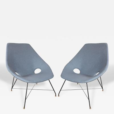 Augusto Bozzi Pair of Saporiti Chairs by Augusto Bozzi