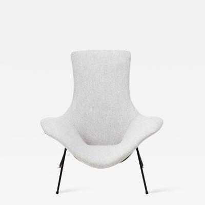 Augusto Bozzi Vintage Grey Lounge chair by Augusto Bozzi for Fratelli Saporiti