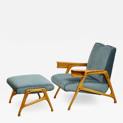 Augusto Romano ARMCHAIR OTTOMAN BY AUGUSTO ROMANO FOR CASSINA
