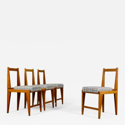 Augusto Romano Set of Four Midcentury Chairs by Augusto Romano 1950s