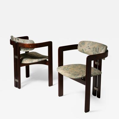 Augusto Savini Pair of Pamplona Chairs by Augusto Savini for Pozzi