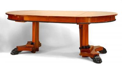 Austiran Biedermeier Mahogany Round Dining Table
