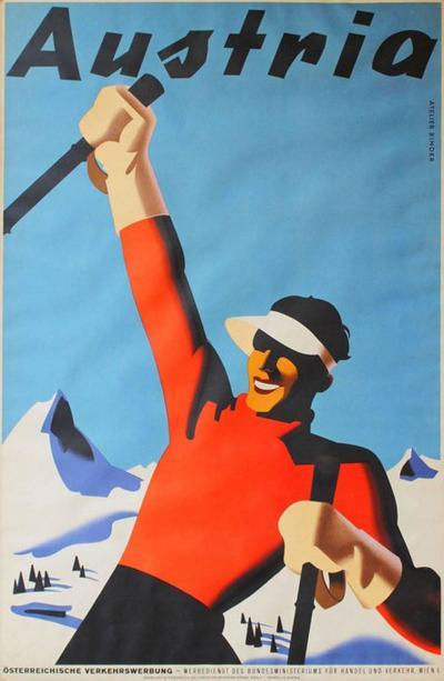 Austria Ski Poster