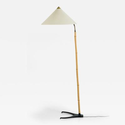 Austrian Bamboo and Iron Floor Lamp
