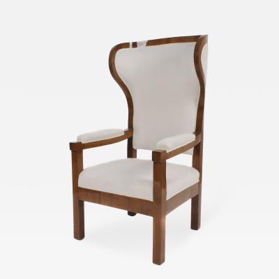 Austrian Biedermeier Cherry Wood Wingback Chair C 1830
