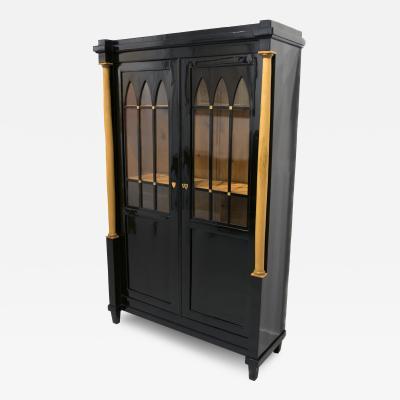 Austrian Biedermeier Ebonized Wood Cabinet Early 19th Century