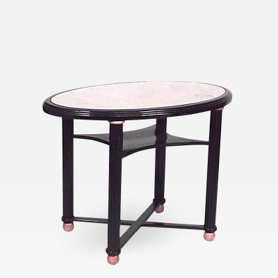 Austrian Biedermeier Style Ebonized Center Table