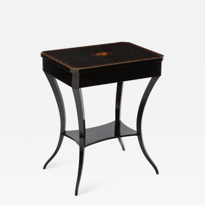 Austrian Empire Fruitwood Stenciled and Ebonized Side Table circa 1820s