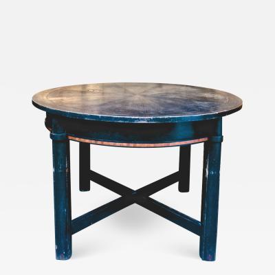 Austrian Secession superb black extendable sunburst top dinning table