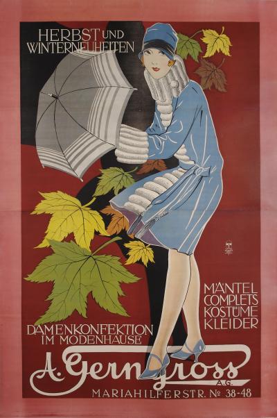 Austrian Secessionist Period Fashion Poster 1910