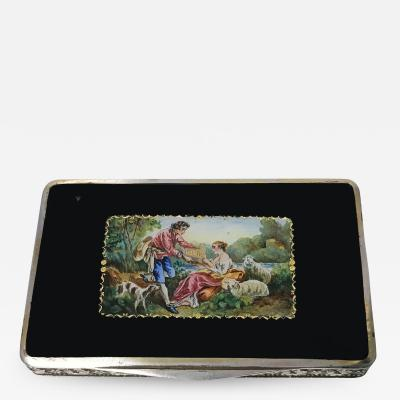 Austrian Sterling Enamel Box C 1920