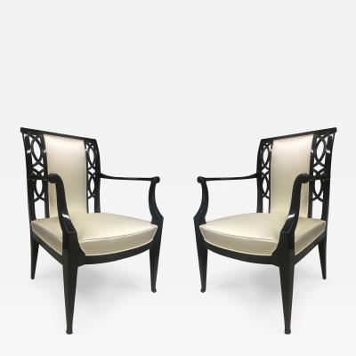 Austrian Superb Pair of Refined Large Comfy Armchairs