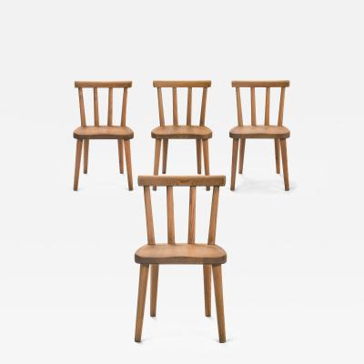 Axel Einar Hjorth Axel Einar Hjort for Nordiska Kompaniet Set of 4 Uto Solid Pine Chairs