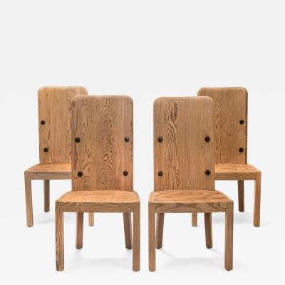 Axel Einar Hjorth Axel Einar Hjorth A Set of 4 Swedish Pine High Back Lov Chairs