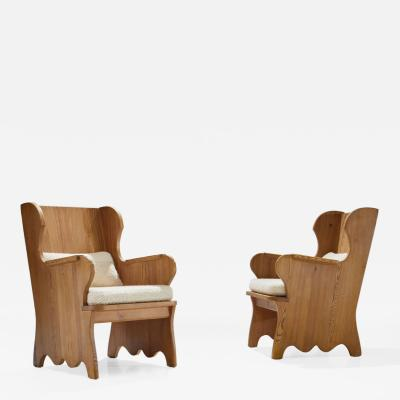 Axel Einar Hjorth Axel Einar Hjorth Pair of Lov Armchairs Sweden 1930s