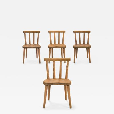 Axel Einar Hjorth Axel Einar Hjorth Set of 4 Swedish Solid Pine Ut Chairs