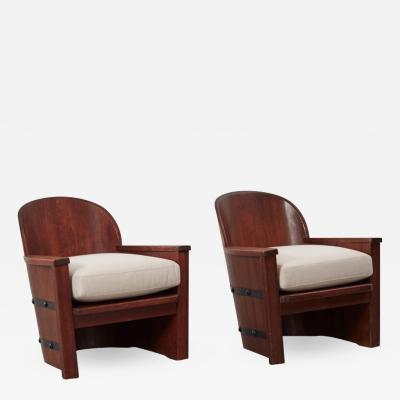 Axel Einar Hjorth Axel Einar Hjorth barrel armchairs Sweden 1940s