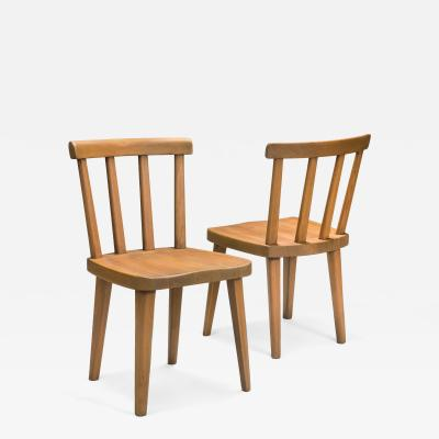 Axel Einar Hjorth Axel Einar Hjorth for Nordiska Kompaniet A Pair of Swedish Ut Pine Chairs