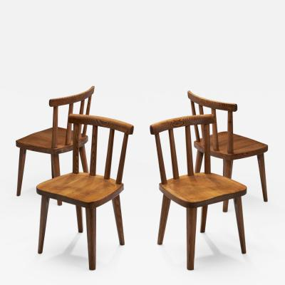 Axel Einar Hjorth Four Axel Einar Hjorth Ut Chairs Sweden 1930s