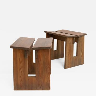 Axel Einar Hjorth PAIR of LOV STOOLS BY AXEL EINAR HJORTH