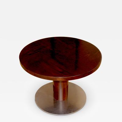 Axel Einar Hjorth Rare Variation Typenko Side Coffee Table with Steel Base by Axel Einar Hjorth