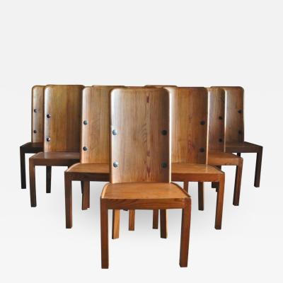 Axel Einar Hjorth Set of Six Lovo Chairs by Axel Einar Hjorth